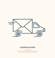 Courier delivery vector image