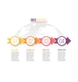 Infographic with 4 steps parts arrows vector image