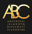 alphabetic fonts and numbers vector image