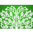 Art pattern on a green background vector image vector image