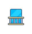 balcony icon in logotype vector image vector image