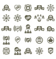 Bank and money theme unusual icons set financial vector image