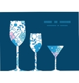 blue and pink kimono blossoms three wine vector image vector image