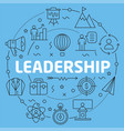 blue line flat circle leadership vector image vector image