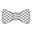 bow tie icon black and white vector image vector image