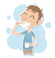 boy brush the teeth vector image