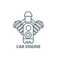 car engine line icon car engine outline vector image vector image