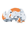 car repair service vector image vector image