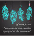 card with native american indian talisman vector image vector image