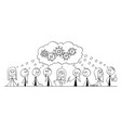 cartoon of group of business people businessmen vector image vector image