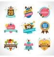 celebration emblems set vector image