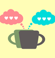 coffee icon and lovers conversation vector image