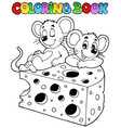 coloring book with mouse 1 vector image