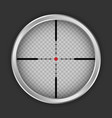 crosshair sniper icon realistic style vector image vector image