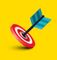 dart in target icon business success symbol arrow vector image vector image