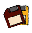 diskettes icon image vector image