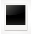 Empty shiny photo frame Polaroid vector image