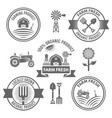farm fresh products labels badges emblems vector image