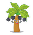 fitness palm tree character cartoon vector image vector image