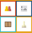 flat icon games set of dice pawn people and vector image vector image