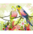 Floral Background with Parrots vector image vector image