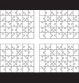 four different white puzzles vector image vector image