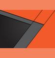 grey orange arrow direction with blank space vector image vector image