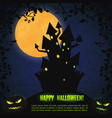 halloween party greeting poster vector image vector image