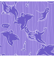 halloween seamless pattern with ghosts vector image vector image