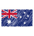 hand drawn national flag of australia isolated on vector image