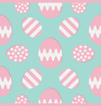 happy easter painting egg painted shell set pink vector image vector image