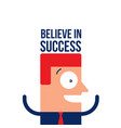 happy excited businessman business success concept vector image