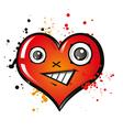 happy heart vector image vector image