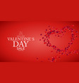 happy valentines day sale background eps10 vector image