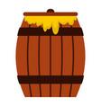 honey keg icon flat style vector image vector image