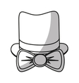 Isolated hipster hat and bowtie design vector image vector image