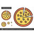 italian pizza line icon vector image vector image