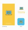 laptop company logo app icon and splash page vector image vector image