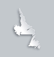 Map of Newfoundland and Labrador vector image vector image