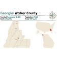 map walker county in georgia vector image vector image