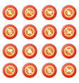 No insect sign icons set vector image vector image