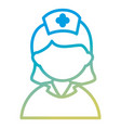 nurse beautiful avatar character vector image vector image