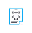 organizational workflow plan linear icon concept vector image