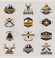 outdoor tourist travel logo scout badges template vector image vector image