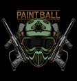paintball logo design vector image vector image