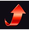 Red arrow vector image vector image