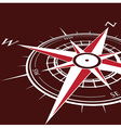 red compass vector image vector image