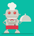 robot chef flat vector image vector image