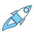 rocket spaceship isolated vector image vector image