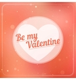 Romantic typography on a soft blurry background vector image vector image
